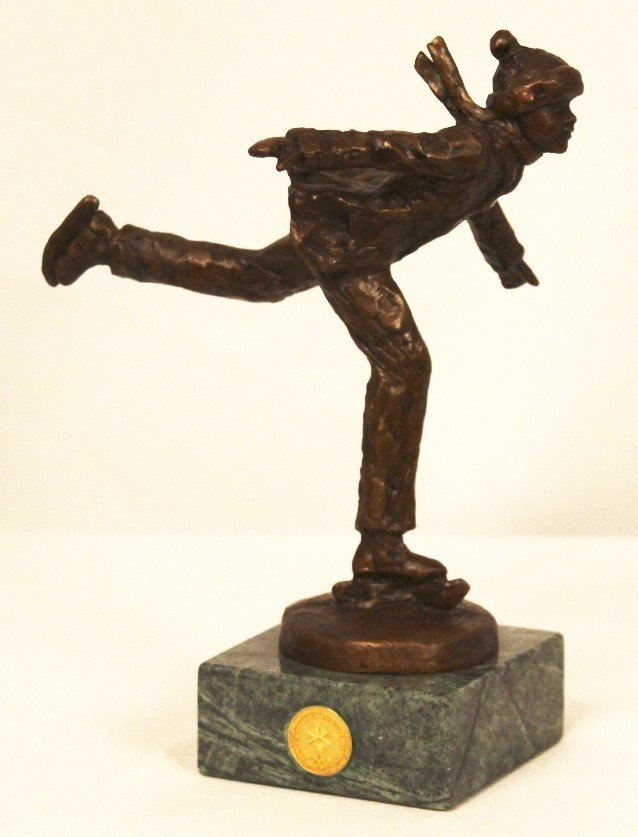 """""""The Skater"""" by Dennis Smith Bronze Statue BD222"""