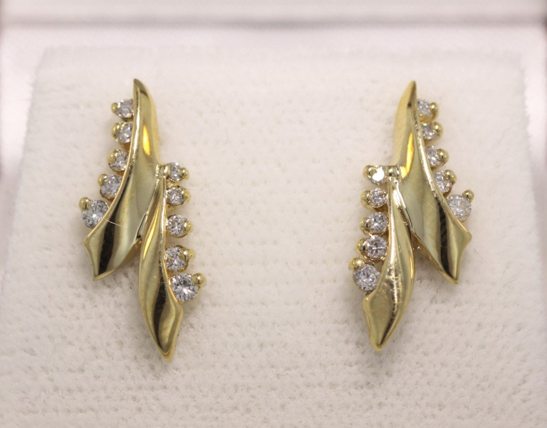 14KT Yellow Gold .40ct Diamond Earrings GD205