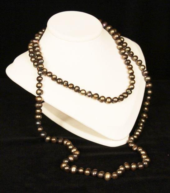 """46"""" Dark Pearl Necklace PS34"""