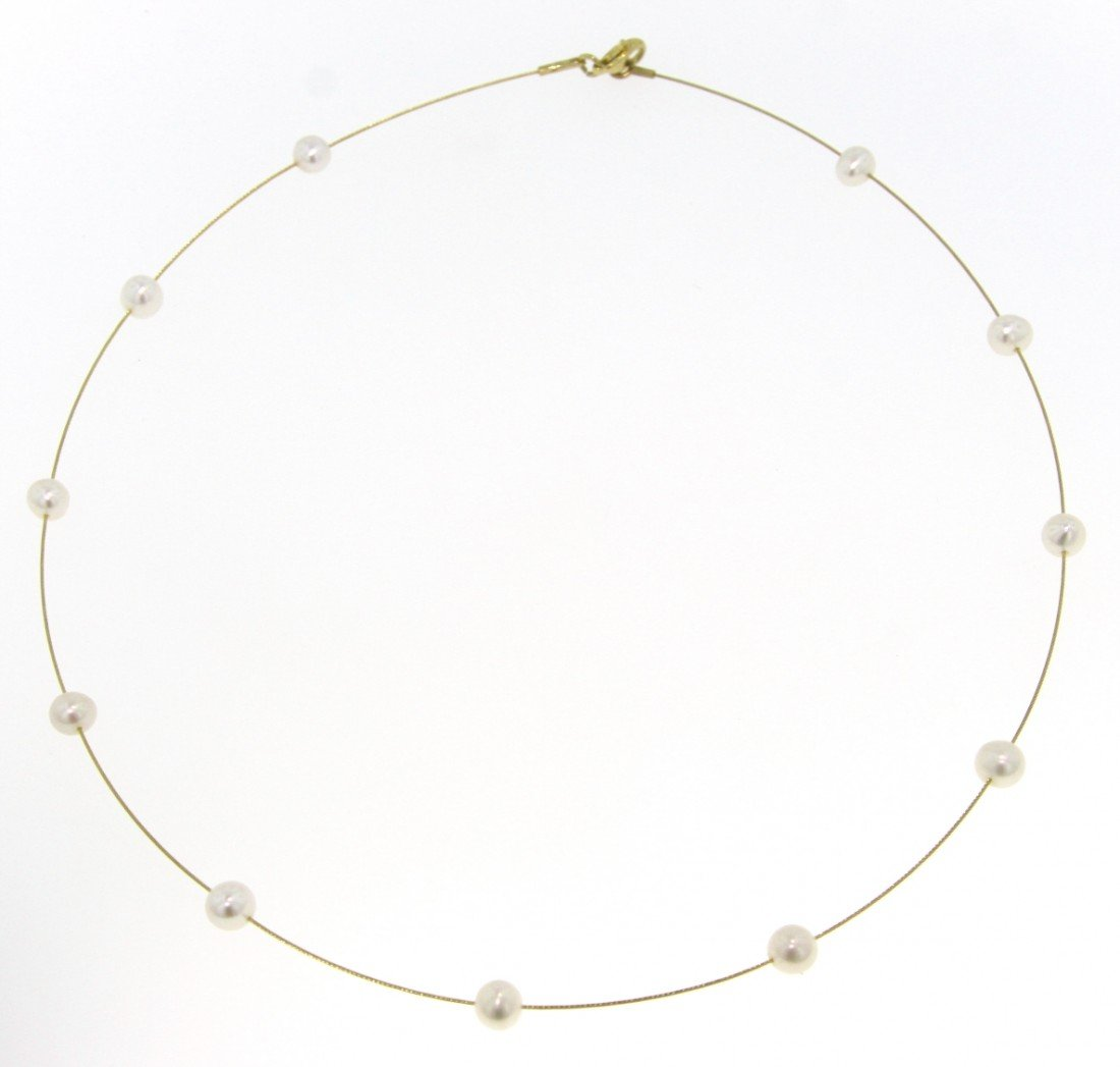 14KT Yellow Gold Pearl Necklace GD382
