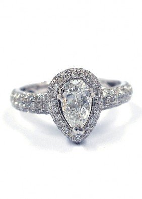 14KT White Gold 1.39ct Diamond Ring A3803