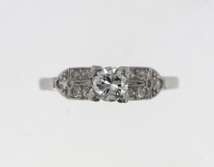 Platinum Ladies Diamond Ring STN25