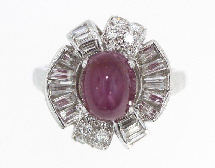 Platinum 4.56ct Ruby & Diamond Ring STN13