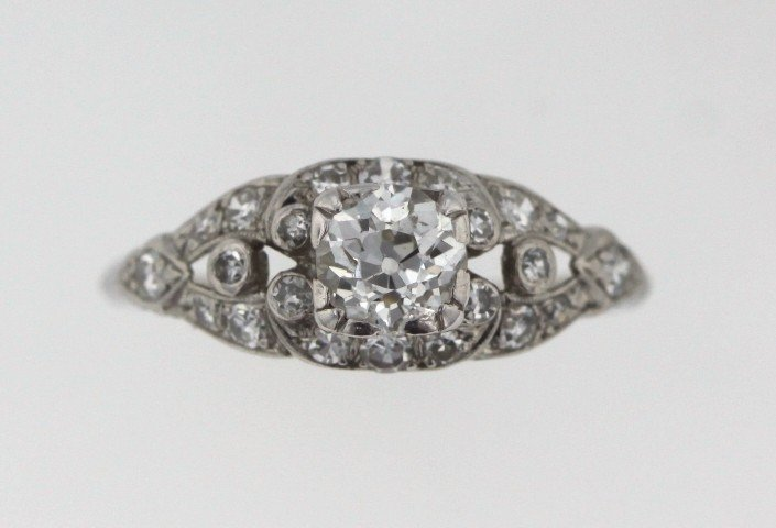 Platinum 1.00ct Diamond Ring STN33