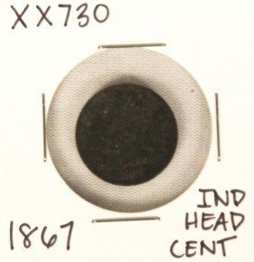 1867 Indian Head Cent XX730