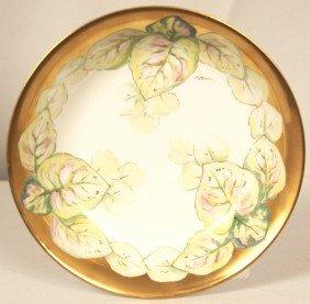 Limoges France Hand Painted Large Prcelain Bowl Signed