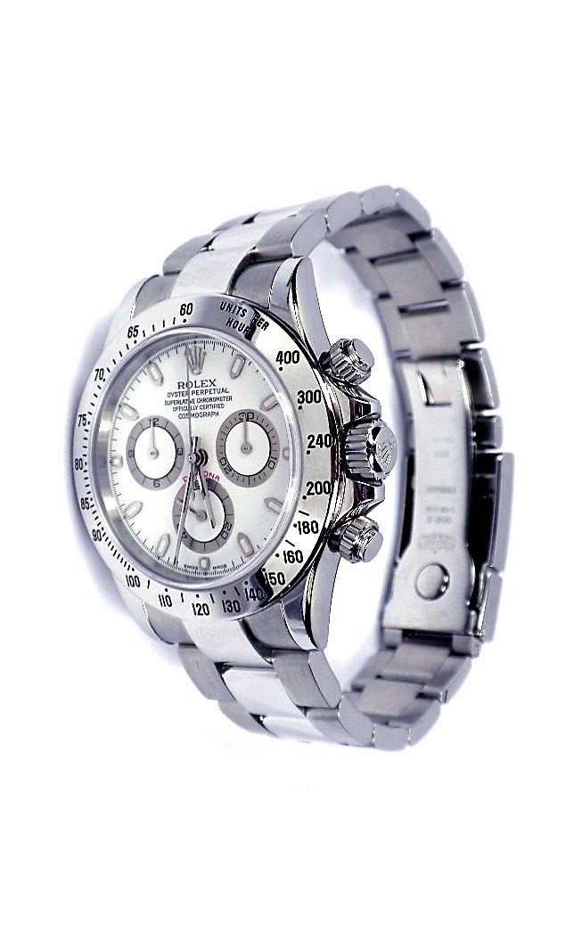 Rolex Stainless Steel Daytona Cosmograph Wristwatch A36