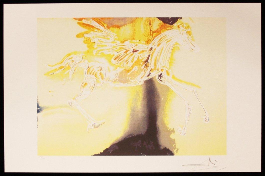 "Salvador Dali ""Pegasus"" Fine Art Print AP466"