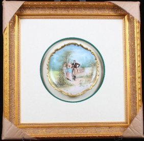 Limoges Hand Painted Portrait Charger Plate Muville in