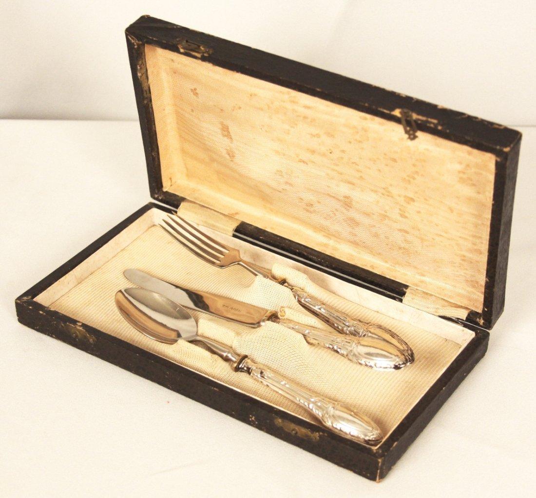 Gorgeous Antique Solingen Luncheaon Set 800 Silver ED12