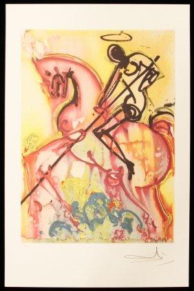 "Salvador Dali ""Saint George"" Fine Art Print AP477"