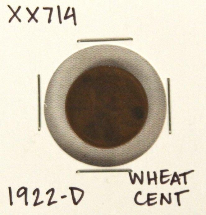 1922-D Wheat Cent XX714