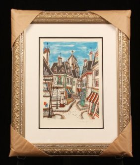 """Tom Wood """"Jaquest"""" S/N Litho """"Ode to a tiny town""""ED718"""
