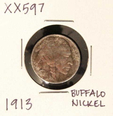 1913 Buffalo Nickel XX597