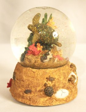 Turtle Snowglobe - Vintage - Musical NS157