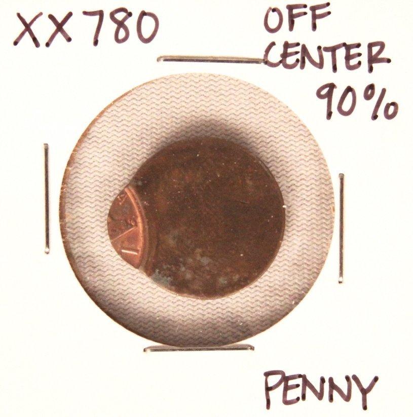 RARE Penny 90% Off Center Coin XX780