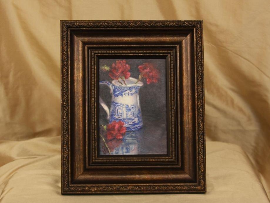 "Original Oil by Sepos ""Spode Reflected"" ED674"