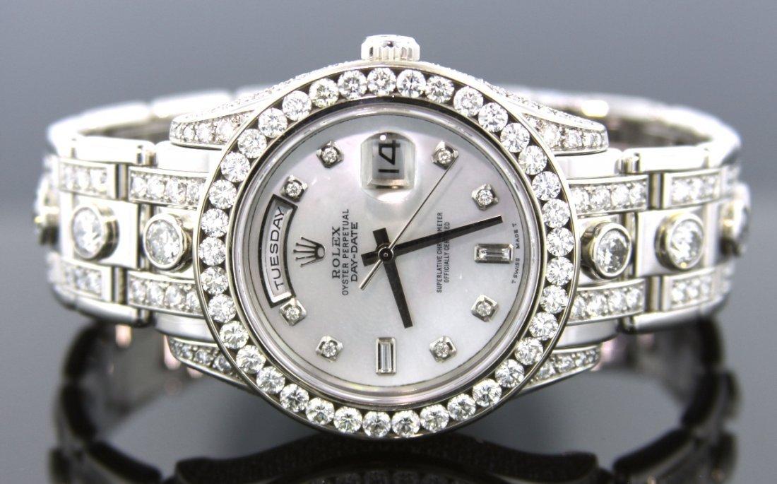 Men's Rolex DayDate Platinum Matsterpiece Diamond Watch