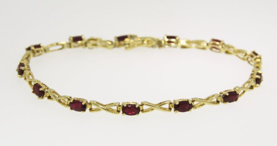 14KT Yellow Gold Ruby Bracelet GD197
