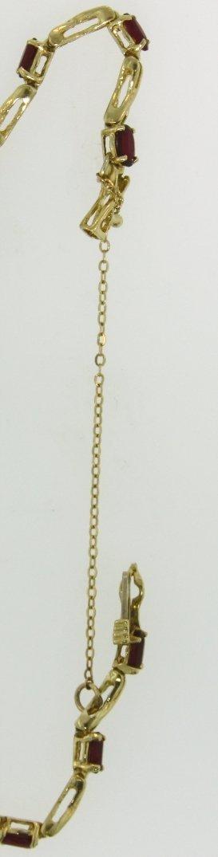 14KT Yellow Gold Ruby Bracelet GD197 - 3