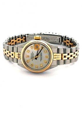 Lady Rolex Two-Tone DateJust Wristwatch A3581