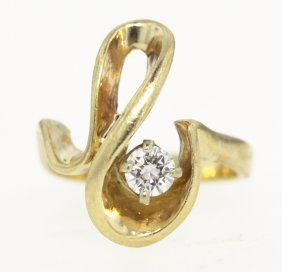 14KT Yellow Gold Designed Diamond Ring GD371