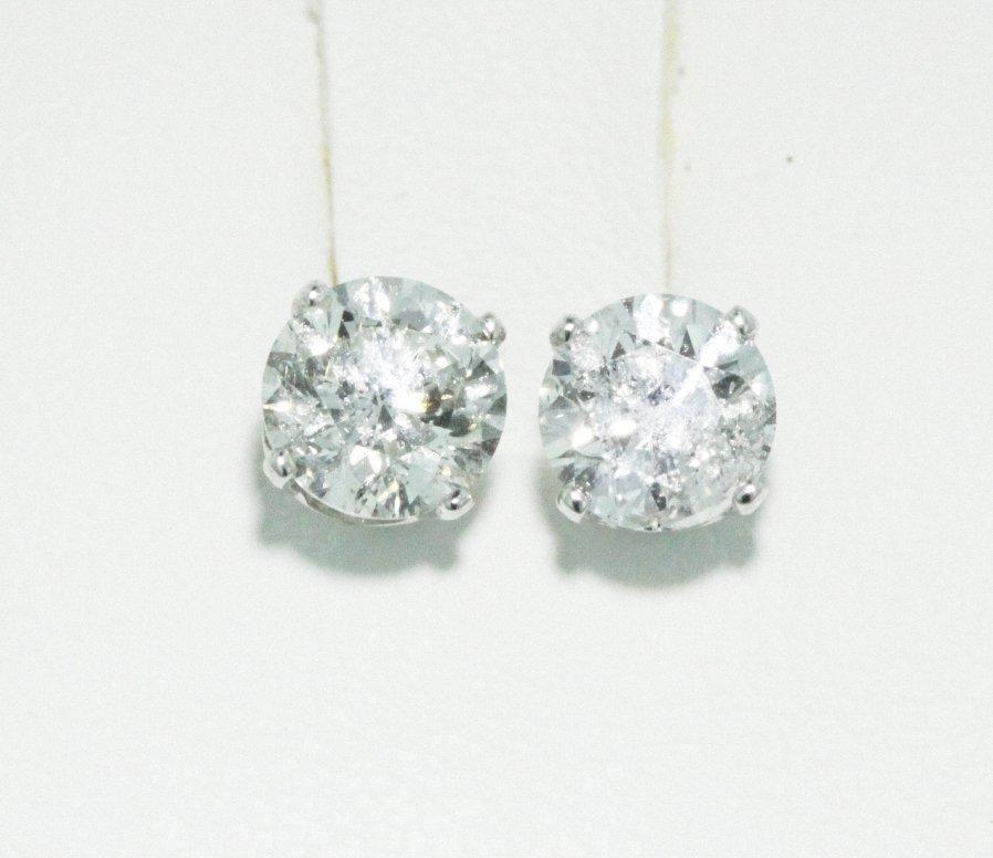 14KT White Gold 0.98ct Diamond Earrings FJM1283