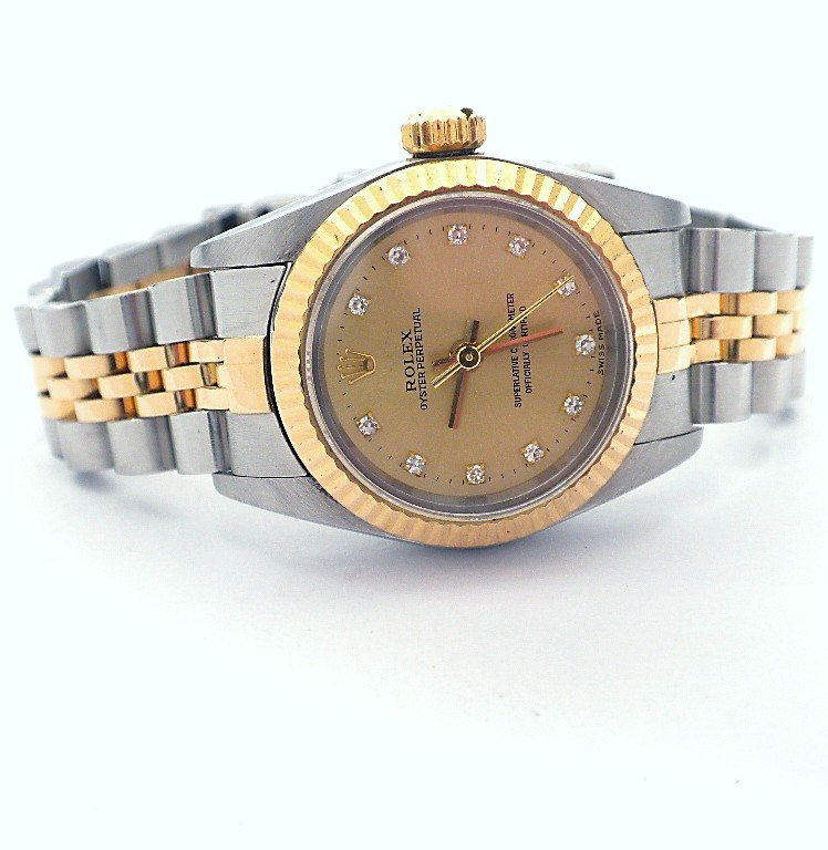 Lady Rolex Two-Tone Oyster Perpetual Wristwatch A3431