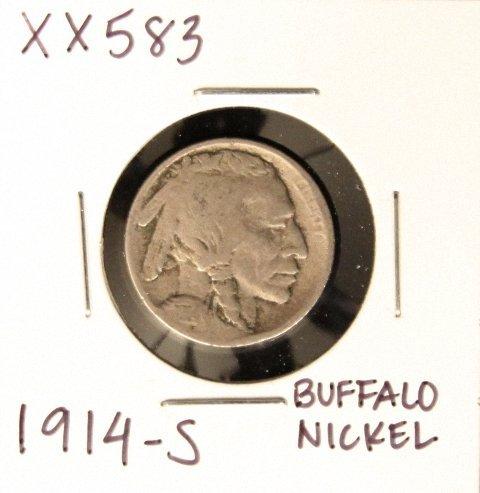 1914-S Buffalo Nickel XX583