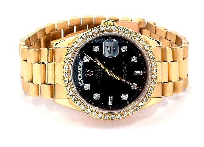 Gents Rolex 18KT Gold w/ Diamonds DayDate Wristwatch A3