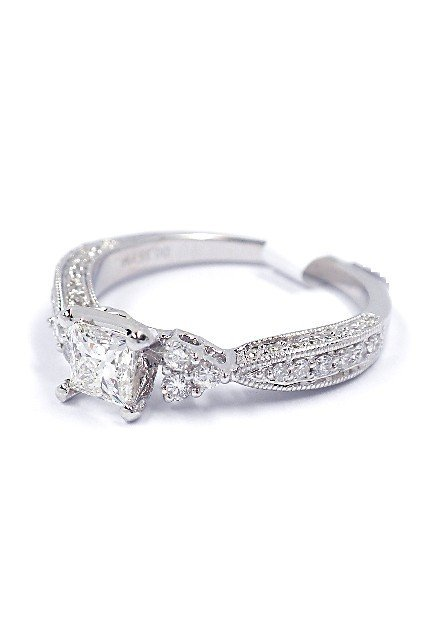 14KT White Gold 0.83ct Diamond Unity Ring A3813