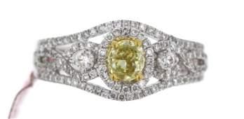 18KT White Gold Diamond Ring FJM1460