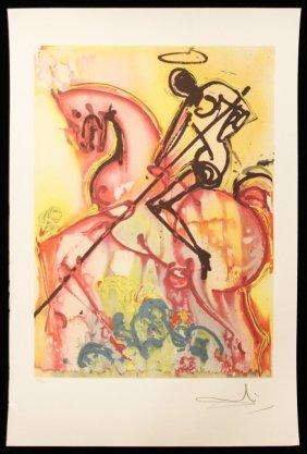 "Salvador Dali ""Saint George"" Fine Art Print AP478"