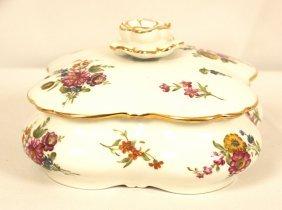 Vintage Hand Painted Porcelain Covered Dish France WBL4