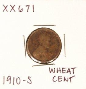 1910-S Wheat Cent XX671