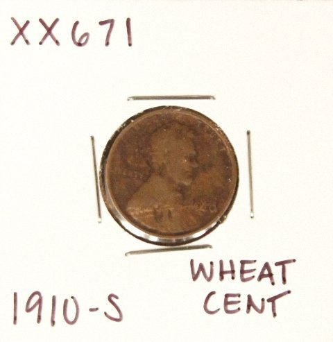 1910-S Wheat Cent XX671