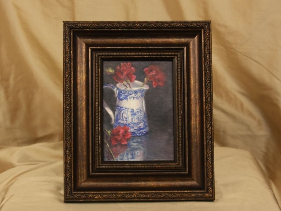 "Original Oil by Sepos ""Spode Reflected"" ED674"