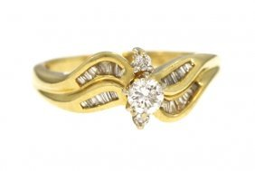 14KT Yellow Gold .3ct Diamond Engagement Ring WBS4