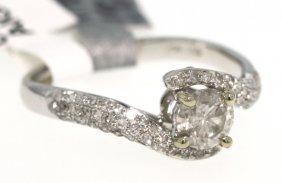 18KT White Gold .85ct Diamond Unity Ring RM419