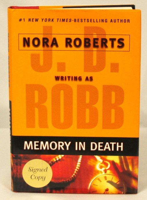"Autographed Copy of ""Memory in Death"" BK21"