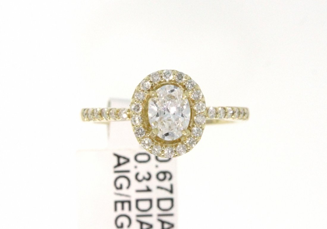 14KT Yellow Gold 0.98ct Diamond Ring RM460