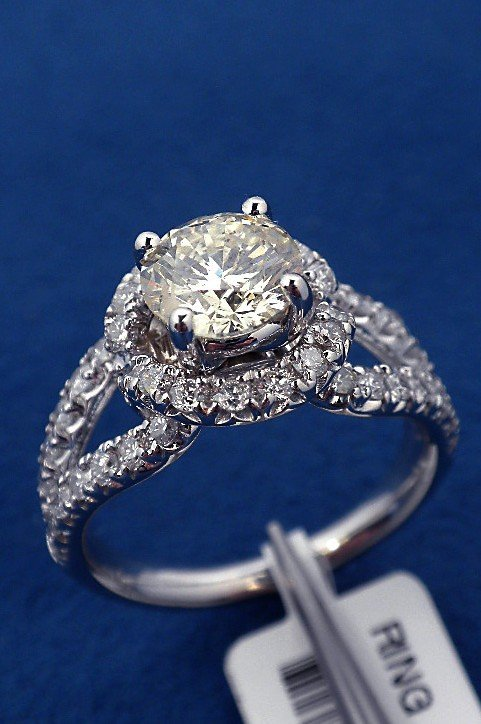 14KT White Gold 2.02ct Diamond Unity Ring A3620