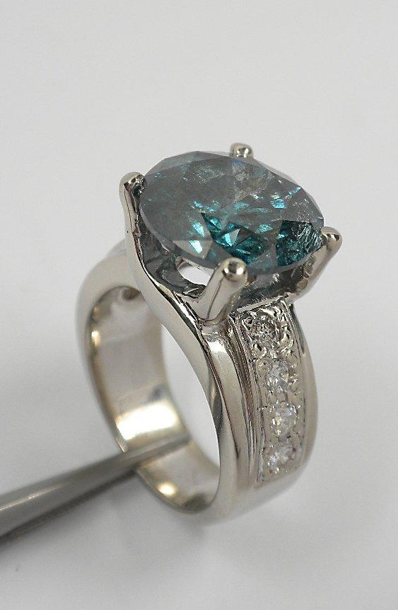 8.35ct Blue Diamond Unity Ring GB17