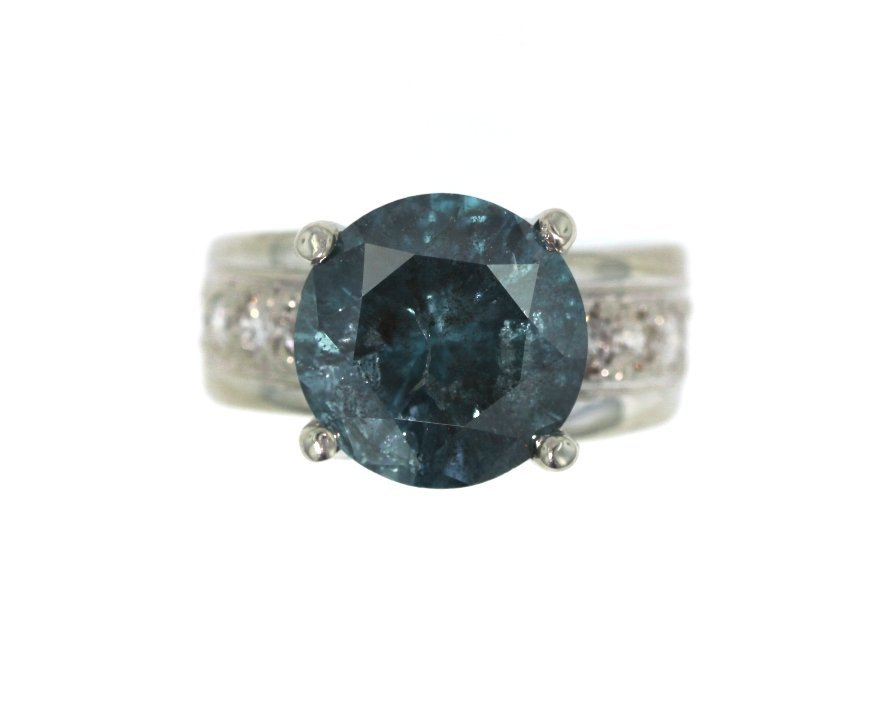 8.35ct Blue Diamond Unity Ring GB17 - 2
