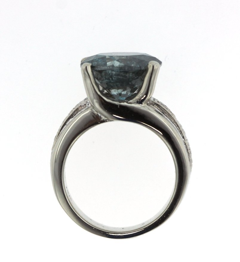 8.35ct Blue Diamond Unity Ring GB17 - 4