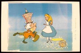 "Walt Disney ""Alice In Wonderland"" Serigraph Cel DisneyS"