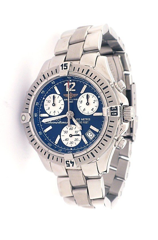 Breitling Chrono Colt Ocean Stainless Steel Wristwatch