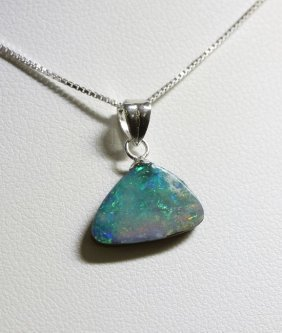 Sterling Silver Opal Doublet Necklace RTJ430