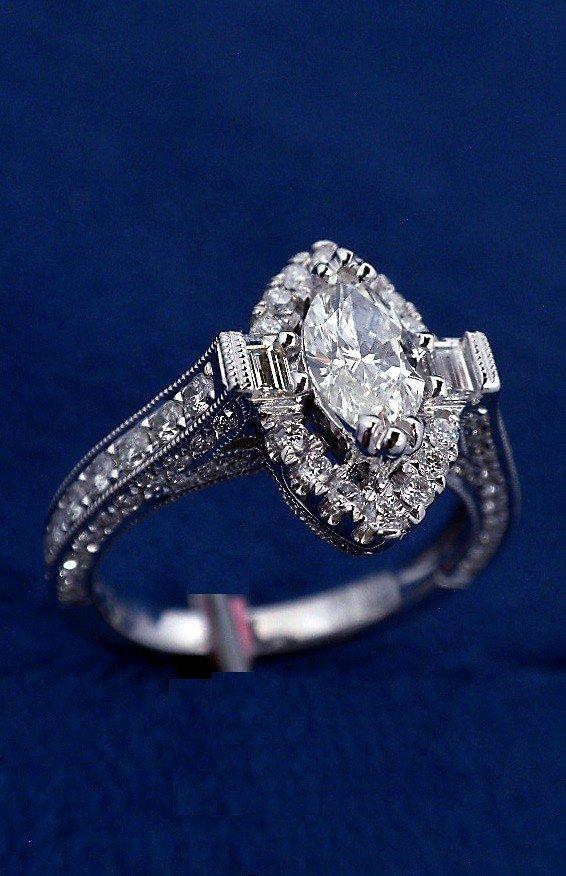 18KT White Gold 1.45ct Diamond Unity Ring FJM1076