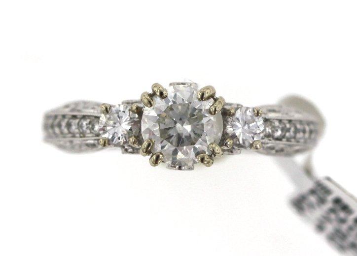 18KT White Gold 1.00ct Diamond Ring RM504